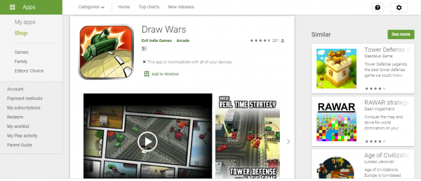 Draw Wars game