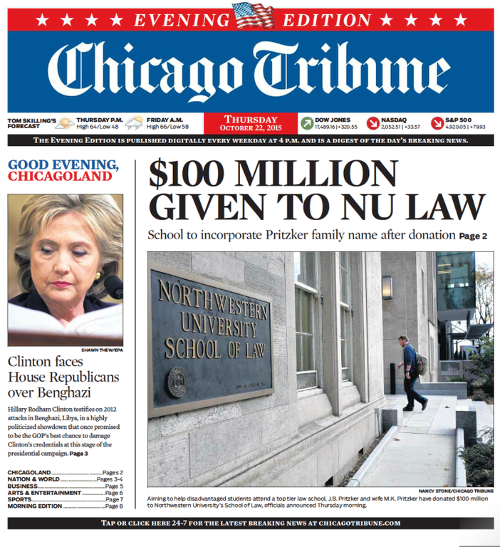 Chicago Tribune - best newspaper for students in US.png
